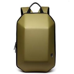 新美學時尚後背包-硬殼幾何造型機車後背包 / 筆電後背包【B8971】顏色:土豪金