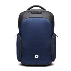 商務幾何防盜後背包 / 防潑水 /15.6吋筆電包【B8936】深藍色