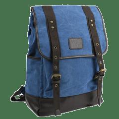 翻蓋高磅耐重-單寧布後背包 【C8808】(天藍色)