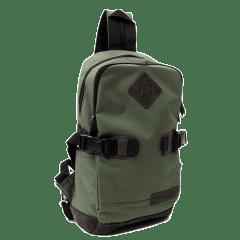 日系仿舊風系列-立體格紋豬鼻三用 單車背包 / 腰包 / 【L3201】(綠色)