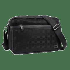 日系經典格紋時尚側背包/斜背包-質感系列【S1335】(黑色)